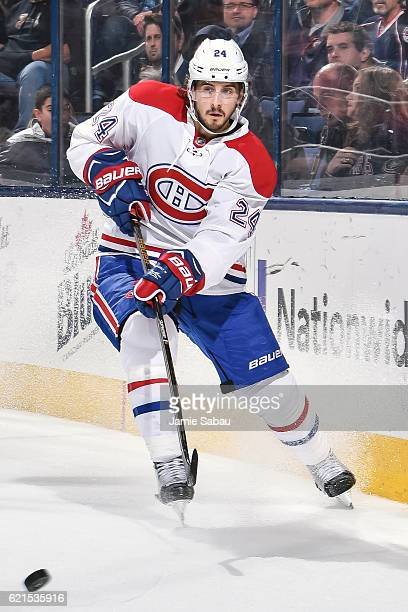 Phillip Danault of the Montreal Canadiens skates against the Columbus Blue Jackets on November 4 2016 at Nationwide Arena in Columbus Ohio Columbus...