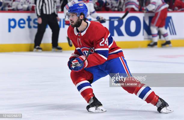 Phillip Danault of the Montreal Canadiens skates against the New York Rangers in the NHL game at the Bell Centre on February 27, 2020 in Montreal,...