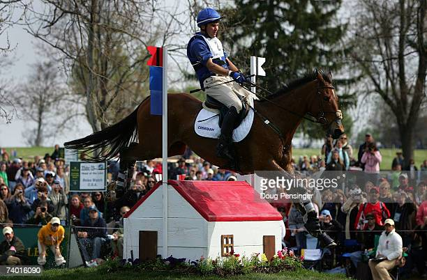 Phillip Dutton from West Grove, Pennsylvania atop Connaught competes in the Cross Country Phase of the 2007 Rolex Kentucky Three-Day Event at the...
