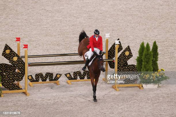Phillip Dutton of Team United States riding Z competes during the Eventing Jumping Team Final and Individual Qualifier on day ten of the Tokyo 2020...