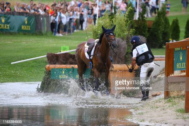 Phillip Dutton of United States of America riding Z, during SAP-Cup, Rolex Cross-Country Course Soers, Aachen on July 20, 2019 in Aachen, Germany.