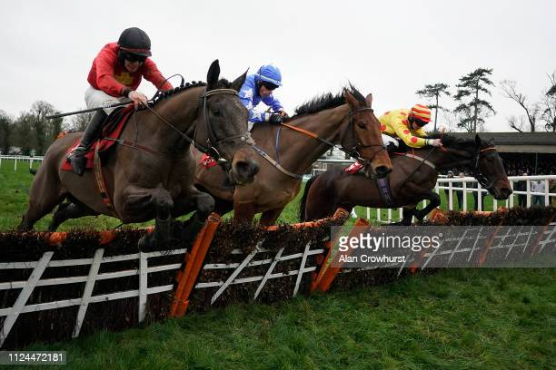 Phillip Enright riding Spare Brakes clear the last to win The Langton House Hotel Handicap Hurdle Race at Gowran Park Racecourse on January 24 2019...