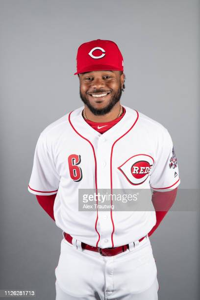 Phillip Ervin of the Cincinnati Reds poses during Photo Day on Tuesday February 19 2019 at Goodyear Ballpark in Goodyear Arizona
