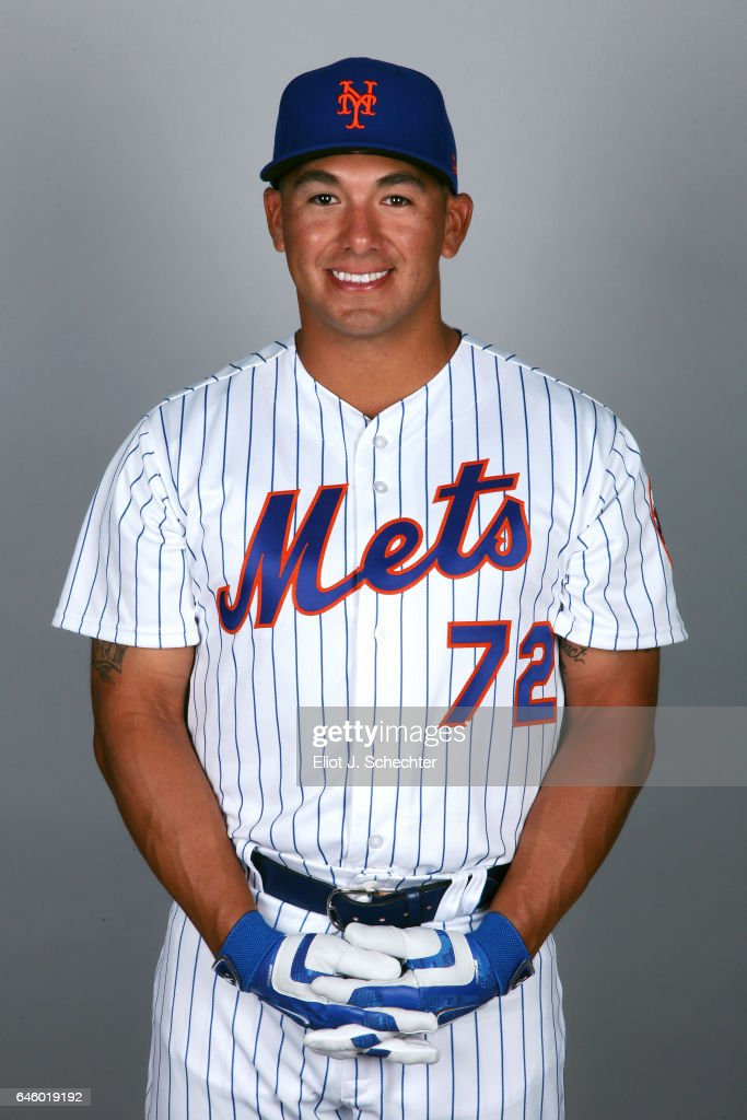 Phillip Evans #72 of the New York Mets poses during Photo Day on Wednesday, February 22, 2017 at Tradition Field in Port St. Lucie, Florida.
