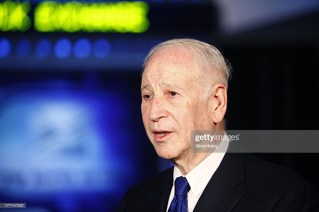Phillip Frost, billionaire and chairman of Teva Pharmaceutical Industries Ltd., speaks during a Bloomberg Television interview at the Tel Aviv Stock Exchange in Tel Aviv, Israel, on Wednesday, Aug. 21, 2013. Frost was at the Tel Aviv Stock Exchange to mark the listing of Opko Health Inc. of which he is the largest shareholder. Photographer: Ariel Jerozolimski/Bloomberg via Getty Images