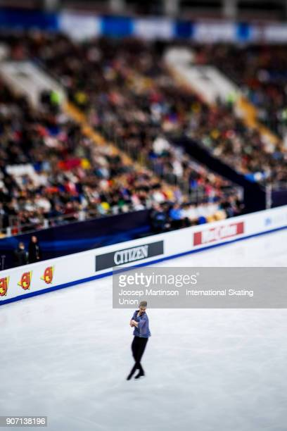 Phillip Harris of Great Britain competes in the Men's Free Skating during day three of the European Figure Skating Championships at Megasport Arena...