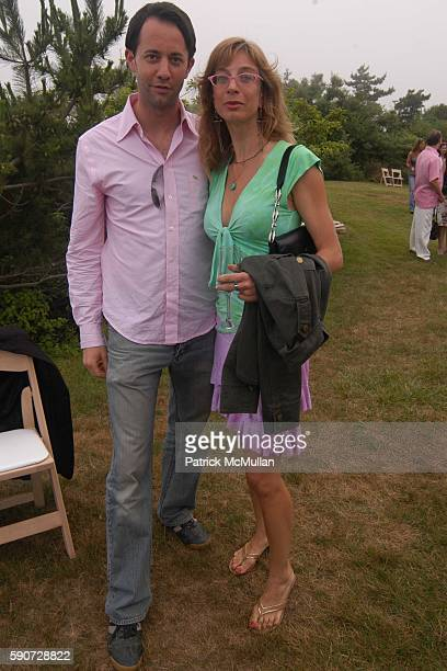 Phillip Klingelhofer and Michelle Tillou attend Junko Yoshioka Presents Her Evening Wear Collection at Peter and Nejma Beard Residence on July 16...