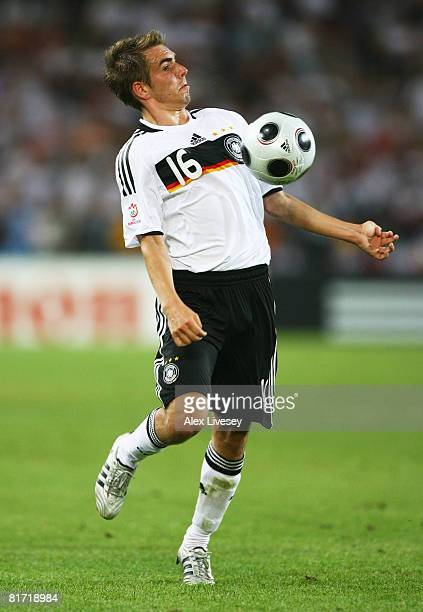 Phillip Lahm of Germany in action during the UEFA EURO 2008 Semi Final match between Germany and Turkey at St. Jakob-Park on June 25, 2008 in Basel,...