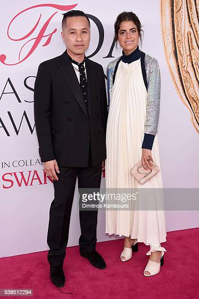 Phillip Lim and Leandra Mendine attend the 2016 CFDA Fashion Awards at the Hammerstein Ballroom on June 6 2016 in New York City