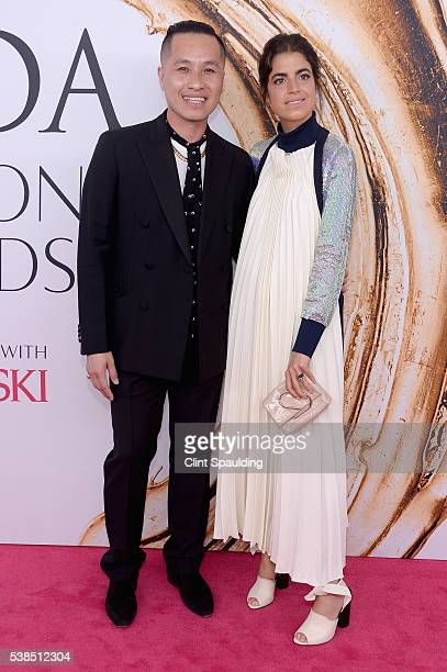 Phillip Lim and Leandra Mendine attend the 2016 CFDA Fashion Awards at the Hammerstein Ballroom on June 6, 2016 in New York City.