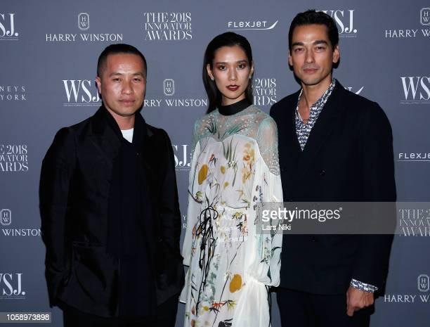 Phillip Lim Tao Okamoto and Tenzin Wild attend WSJ Magazine 2018 Innovator Awards Sponsored By Harry Winston FlexJet Barneys New York Arrivals at...