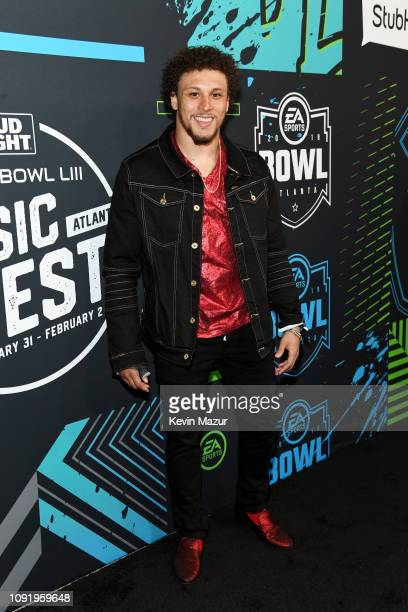 Phillip Lindsay attends Bud Light Super Bowl Music Fest / EA SPORTS BOWL at State Farm Arena on January 31, 2019 in Atlanta, Georgia.