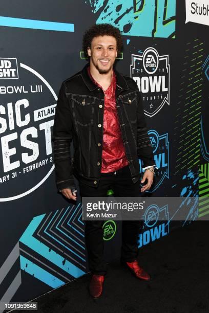 Phillip Lindsay attends Bud Light Super Bowl Music Fest / EA SPORTS BOWL at State Farm Arena on January 31 2019 in Atlanta Georgia
