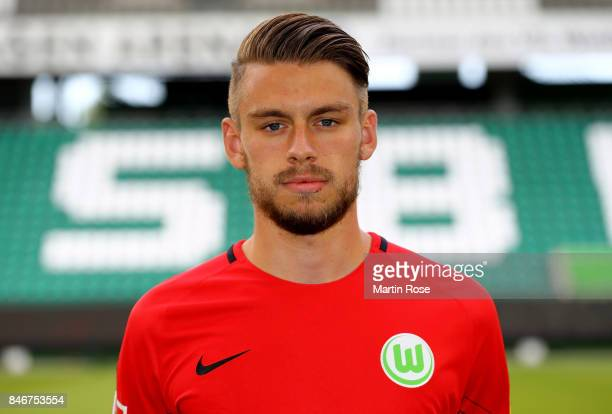 Phillip Menzel of VfL Wolfsburg poses during the team presentation at on September 13 2017 in Wolfsburg Germany