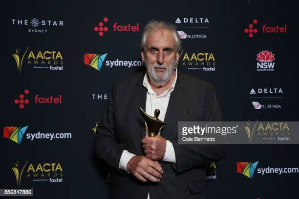 Phillip Noyce poses with the Longford Lyell Award during the 7th AACTA Awards Presented by Foxtel | Ceremony at The Star on December 6 2017 in Sydney...