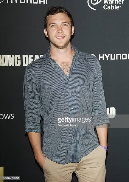 Phillip Phillips arrives at the Los Angeles premiere of AMC's The Walking Dead 4th season held at Universal CityWalk on October 3 2013 in Universal...