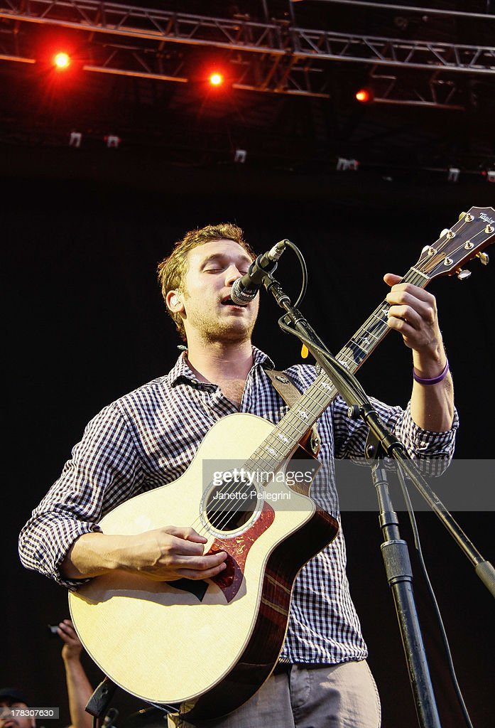 Phillip Phillips performs at Nikon at Jones Beach Theater on August 28, 2013 in Wantagh, New York.