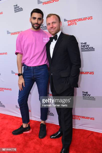 Phillip Picardi and Burak Cakmak attend the 70th Annual Parsons Benefit at Pier Sixty at Chelsea Piers on May 21 2018 in New York City
