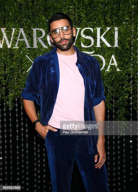Phillip Picardi attends the 2018 CFDA Fashion Awards' Swarovski Award For Emerging Talent Nominee Cocktail Party at DUMBO House on May 16 2018 in New...