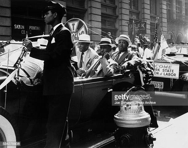 Phillip Randolph and other officials of the Pullman Porter's and Conductor's Union in the 1939 Labor Day Parade in New York City