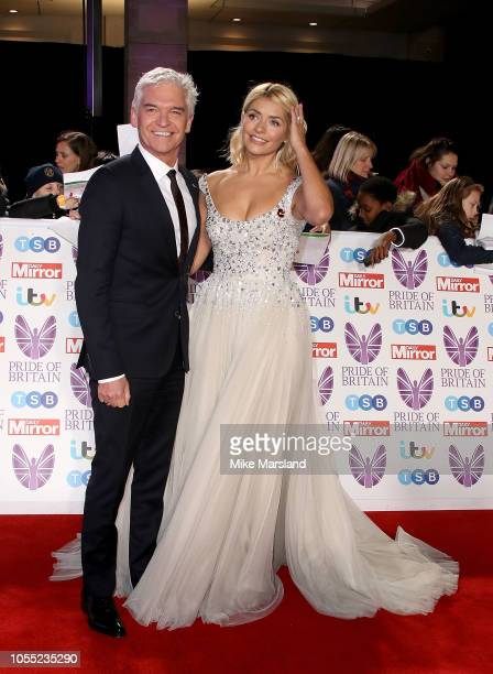 Phillip Schofield and Holly Willoughby attend the Pride of Britain Awards 2018 at The Grosvenor House Hotel on October 29 2018 in London England