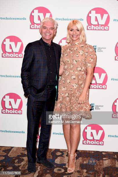Phillip Schofield and Holly Willoughby attend The TV Choice Awards 2019 at Hilton Park Lane on September 09 2019 in London England