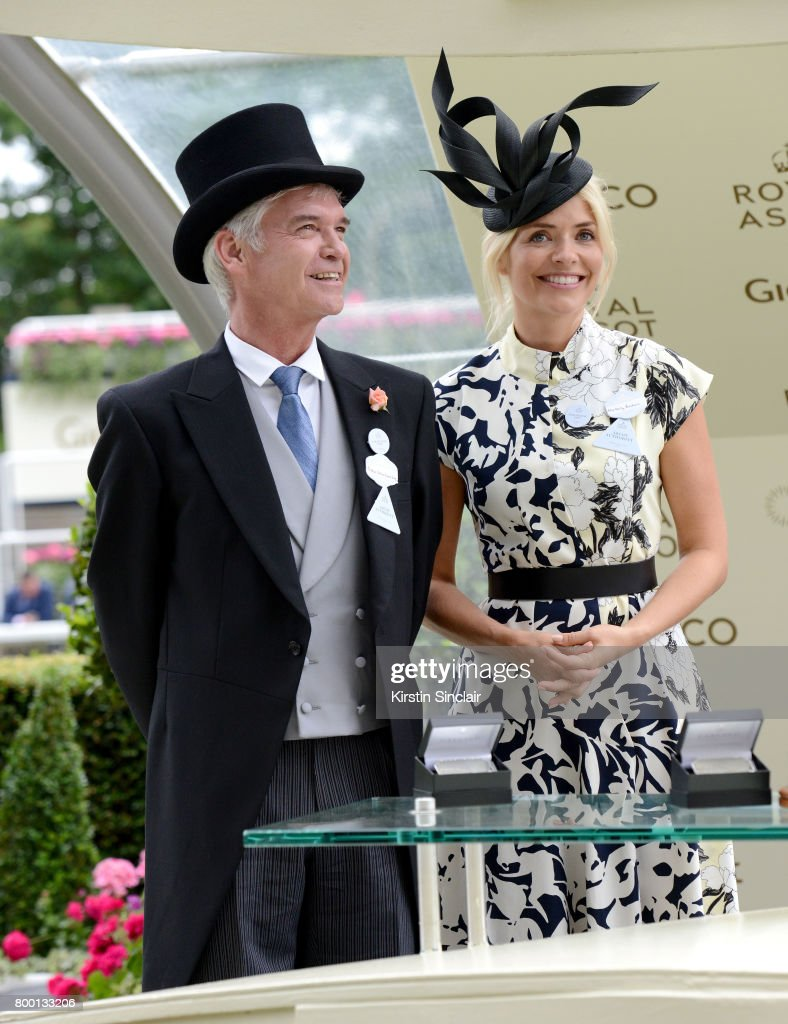 Phillip Schofield and Holly Willoughby present the King Edward VII Stakes on day 4 of Royal Ascot at Ascot Racecourse on June 23, 2017 in Ascot, England.