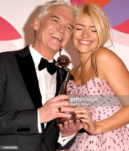 Phillip Schofield and Holly Willoughby with the Daytime award during the National Television Awards held at The O2 Arena on January 22 2019 in London...