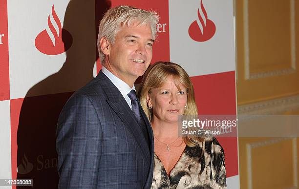 Phillip Schofield and Stephanie Lowe attend special event hosted by Santander to premiere a short film featuring Hamilton and Button at The Royal...