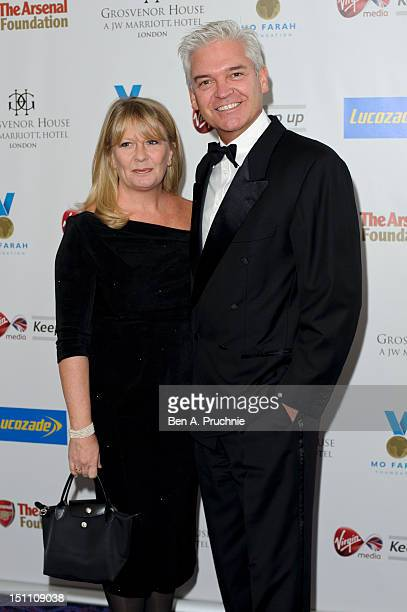 Phillip Schofield and Stephanie Lowe attend the Inaugural Mo Farah Foundation fundraising ball at Grosvenor House on September 1 2012 in London...