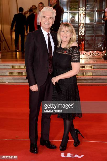 Phillip Schofield and Stephanie Lowe attend the ITV Gala held at the London Palladium on November 9 2017 in London England