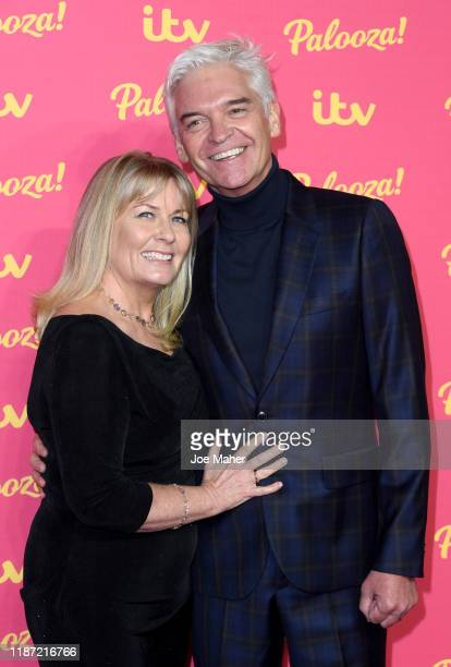 Phillip Schofield and Stephanie Lowe attend the ITV Palooza 2019 at The Royal Festival Hall on November 12 2019 in London England