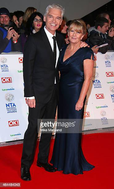 Phillip Schofield and Stephanie Lowe attend the National Television Awards at 02 Arena on January 22 2014 in London England