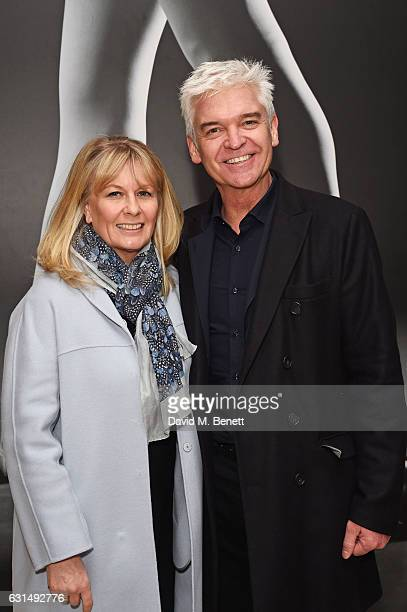 Phillip Schofield and Stephanie Lowe attend the opening night reception of the English National Ballet's production of Giselle hosted by St Martins...
