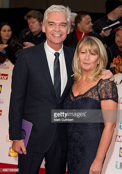 Phillip Schofield and Stephanie Lowe attend the Pride of Britain awards at The Grosvenor House Hotel on October 6 2014 in London England