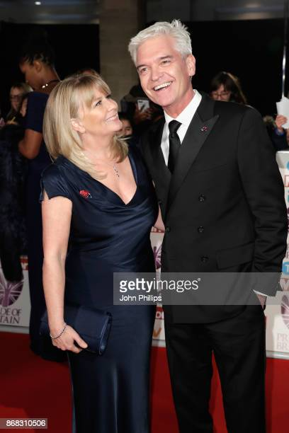 Phillip Schofield and Stephanie Lowe attend the Pride Of Britain Awards at Grosvenor House on October 30 2017 in London England