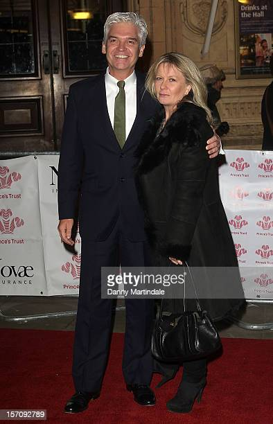 Phillip Schofield and Stephanie Lowe attend the Princes' Trust Comedy Gala at Royal Albert Hall on November 28 2012 in London England