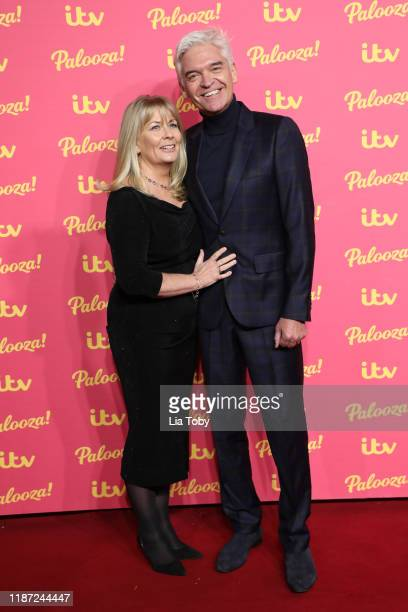 Phillip Schofield and Stephanie Lowe attends the ITV Palooza 2019 at The Royal Festival Hall on November 12 2019 in London England