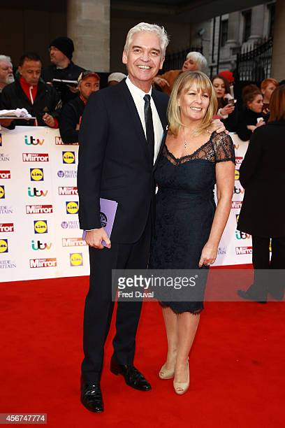 Phillip Schofield and Stephanie Lowe attends the Pride of Britain awards at The Grosvenor House Hotel on October 6 2014 in London England