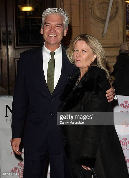 Phillip Schofield and Stephanie Lowe attends the Princes' Trust Comedy Gala at Royal Albert Hall on November 28 2012 in London England