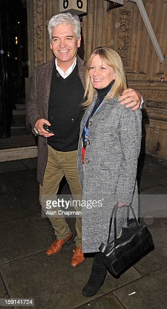 Phillip Schofield and Stephanie Lowe sighting at The Royal Albert Hall on January 8 2013 in London England