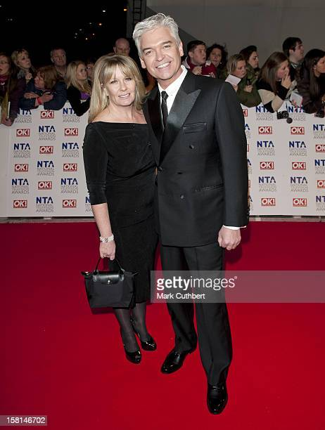 Phillip Schofield And Wife Stephanie Lowe Arriving For The 2012 Nta Awards At The O2 Greenwich London