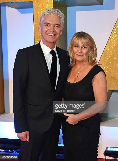Phillip Schofield and wife Stephanie Lowe attend the 21st National Television Awards at The O2 Arena on January 20 2016 in London England