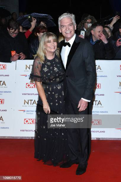 Phillip Schofield and wife Stephanie Lowe attend the National Television Awards held at The O2 Arena on January 22, 2019 in London, England.