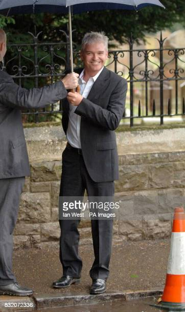 Phillip Schofield at the wedding of Ant McParlin and Lisa Armstrong at StNicholas Church in Taplow Buckinghamshire Picture date Saturday July 22 2006...