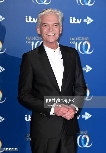 Phillip Schofield attends the Dancing On Ice 2019 photocall at the Dancing On Ice Studio ITV Studios Old Bovingdon Airfield on December 09 2019 in...