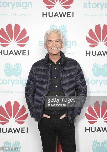 Phillip Schofield attends Winterland London for the launch of Huawei's StorySign App with the British Deaf Association on December 4 2018 in London...