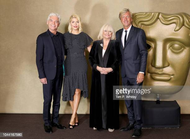 Phillip Schofield Holly Willoughby Judy Finnigan and Richard Madeley attend a BAFTA tribute evening to long running TV show This Morning at BAFTA on...