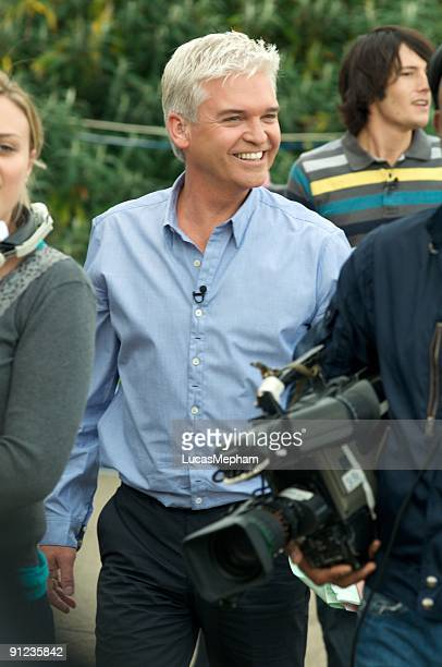 Phillip Schofield is seen presenting 'This Morning' on September 29 2009 in London England