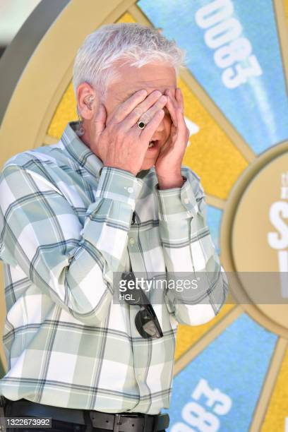 Phillip Schofield seen filming the This Morning show on June 09, 2021 in London, England.